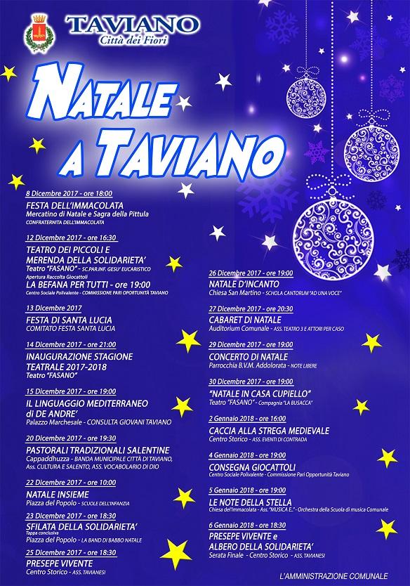 Immagini Natalizie Libere.Comune Di Taviano Natale A Taviano Calendario Delle Manifestazioni Natalizie