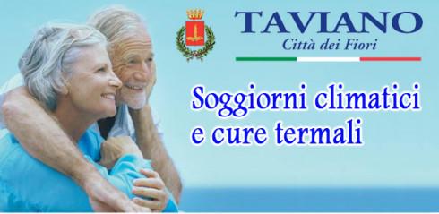 Comune di Taviano - SOGGIORNI CLIMATICI E CURE TERMALI 2017